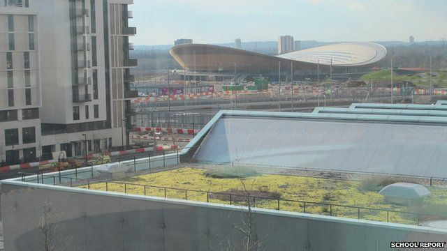 Velodrome seen from Chobham Academy