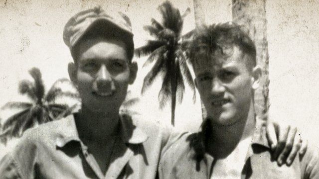 WWII photo of Maharidge and Mulligan