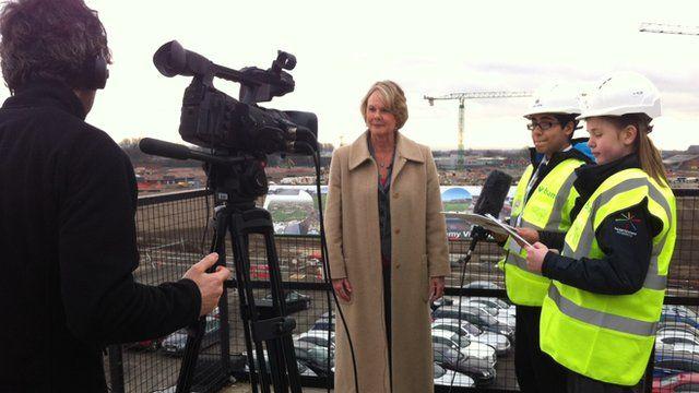 School Reporters interview the principal designate of the new college