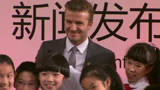 David Beckham in China