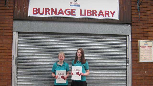 School Reporters Emily and Ellie from Parrs Wood School