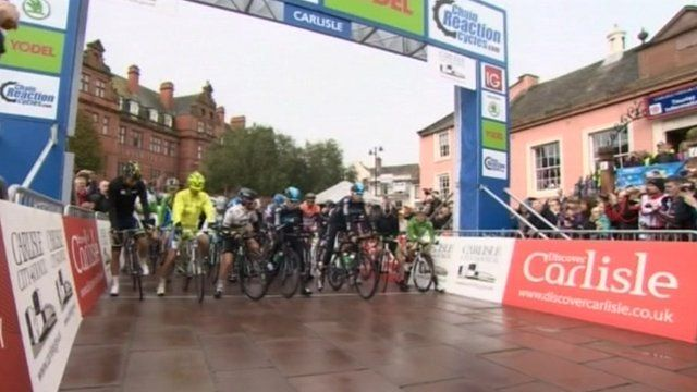The Tour of Britain in Carlisle in 2012