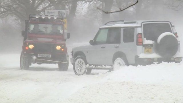Snowy driving conditions