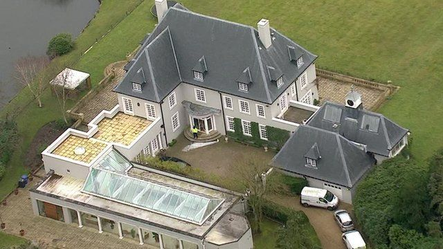 Aerial view of Mr Berezovsky's home