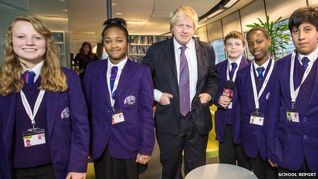 School Reports interview Boris Johnson