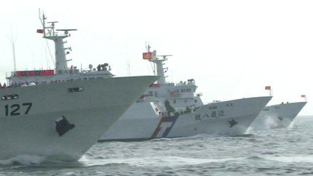 Taiwanese coastguard vessels