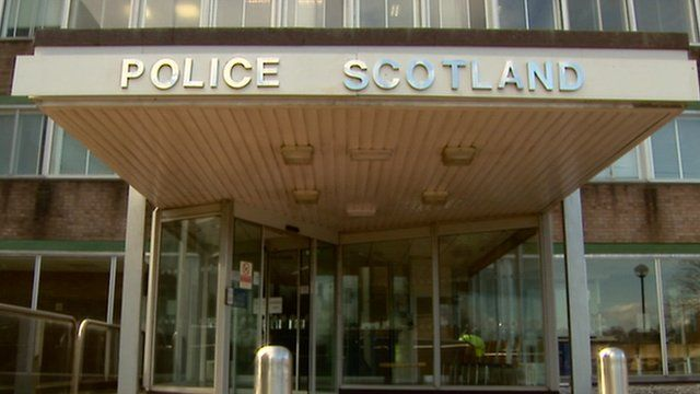 "New ""Police Scotland"" sign outside station"