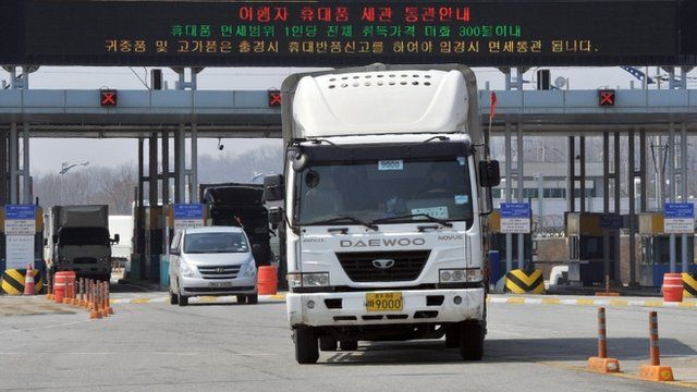 South Korean trucks return back after they were refused access