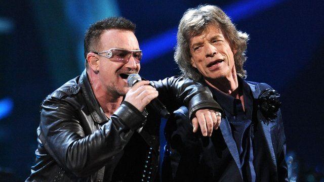 Bono and Mick Jagger