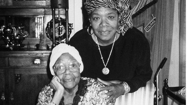 Maya Angelou and her mother Vivian Baxter