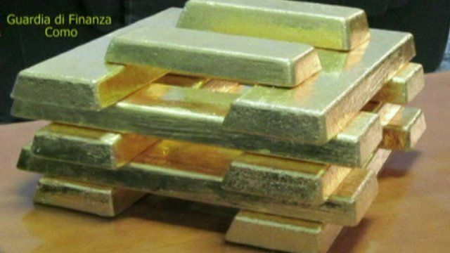 Stack of gold ingots