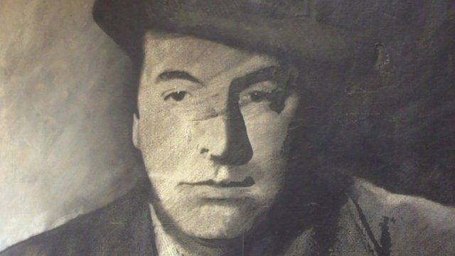 Black and white image of Pablo Naruda