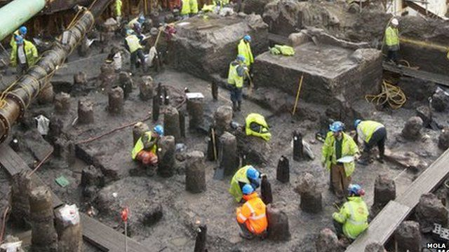 Bloomberg Place archaeological dig