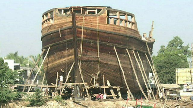 A ship being built in Mandvi