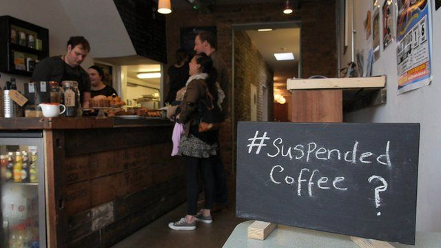 Cafe in east London taking part in 'suspended coffee' scheme