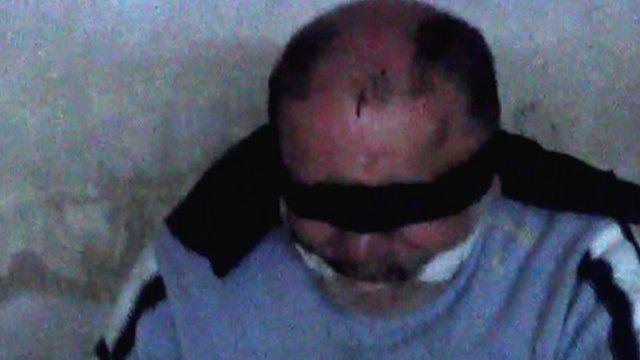 Bassam Wahbh filmed in captivity