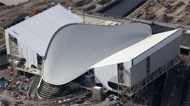 The London 2012 aquatics centre roof was built by Rowecord