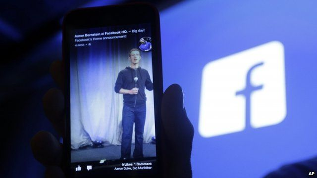 Facebook phone and logo
