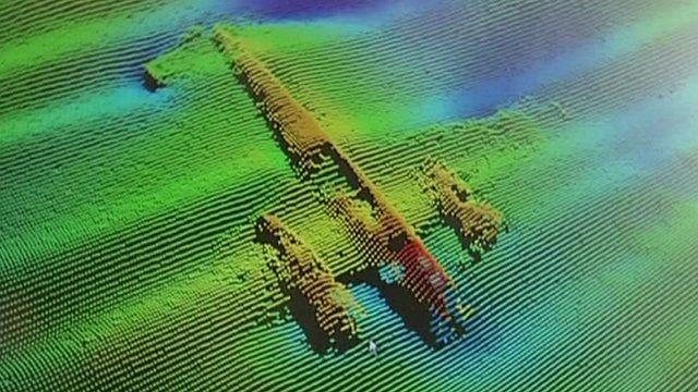 Image of Dornier on seabed