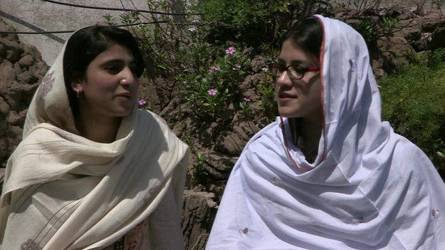 Swat students Shazia Ramazan and Kainat Riaz