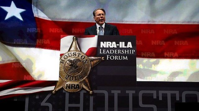 NRA chief executive Wayne LaPierre