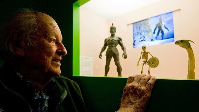 US film producer and special effects creator Ray Harryhausen