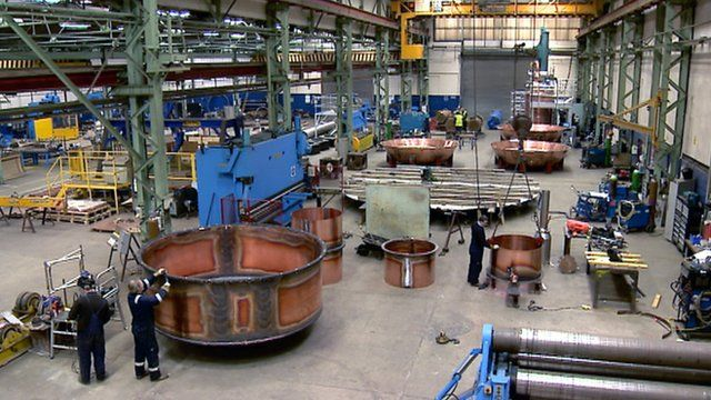 Factory making copper vats