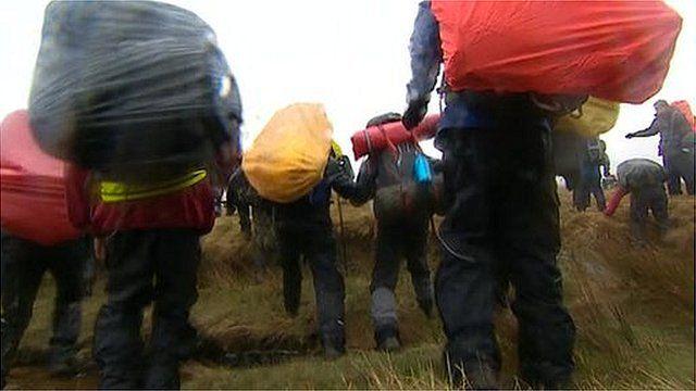 Teenagers on the moor