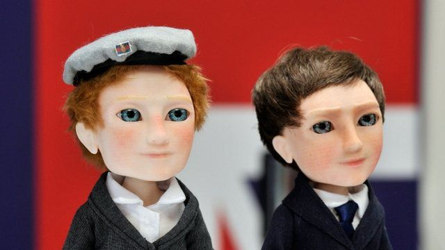 Prince Harry and David Cameron as dolls
