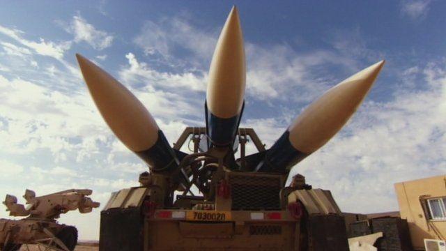 Israeli missiles in the Negev Desert