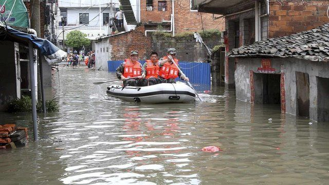 Flooding in southern China