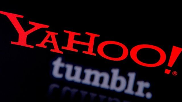 Yahoo and Tumblr logos