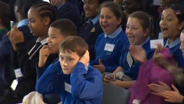 Children react to Will Smith's visit