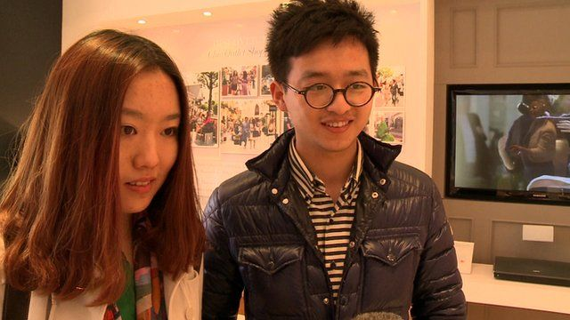Visitors from China shopping in the UK