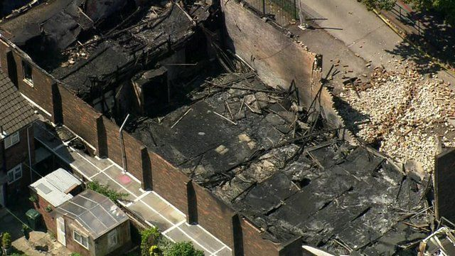 Burned out Islamic centre