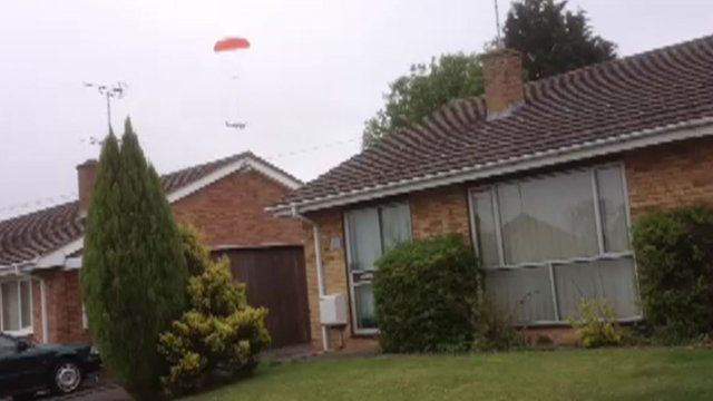 Pilot crash-lands plane in Cheltenham garden