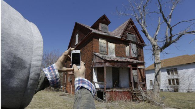 Abandoned home in Detroit