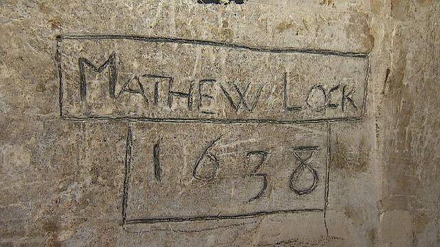 Matthew Locke's graffiti at Exeter Cathedral