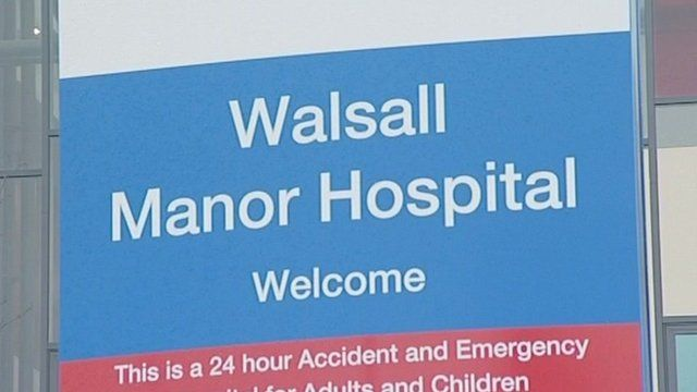 Walsall Manor Hospital sign