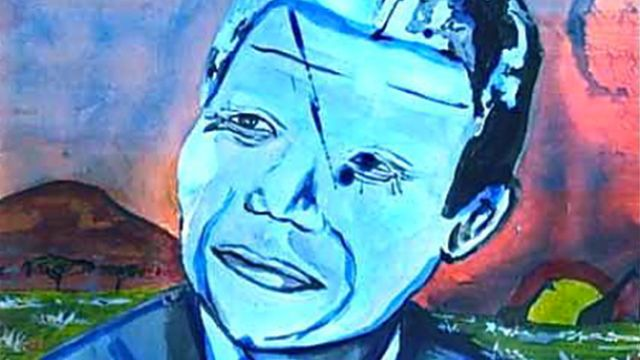 McCreedy's blue Mandela painting