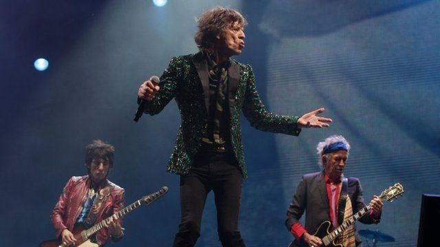 Ronnie Wood, Mick Jagger and Keith Richards