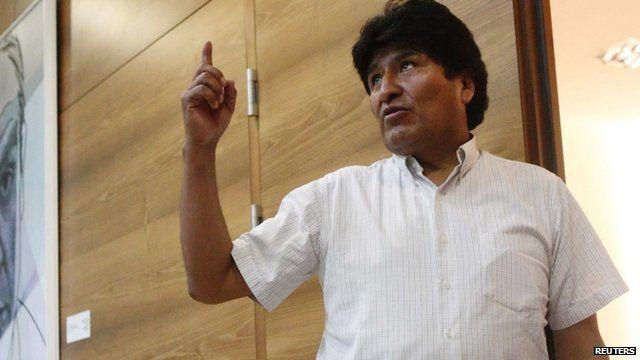 Bolivian President Evo Morales