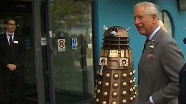 Prince Charles meets Daleks