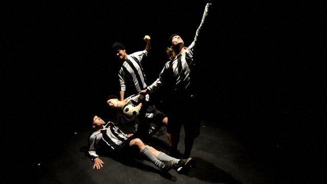 Members of Jo Stromgren's Norwegian dance company