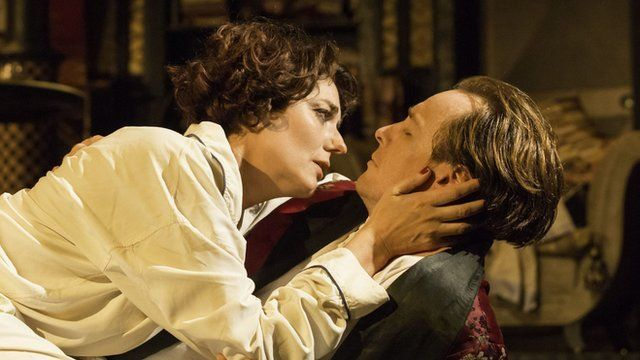 Anna Chancellor and Toby Stephens