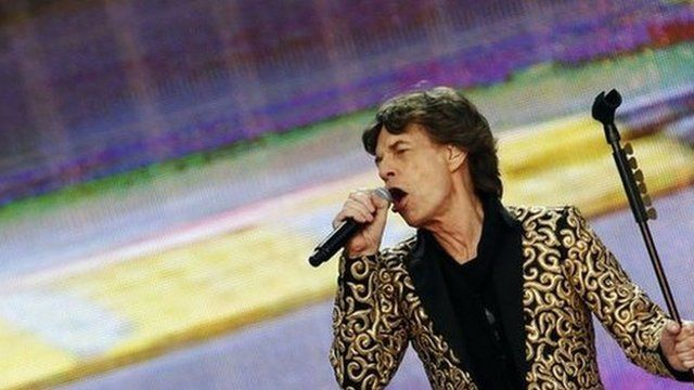 Mick Jagger playing in Hyde Park