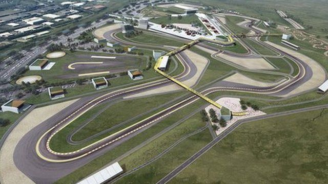 An artist's impression of the proposed motor racing circuit