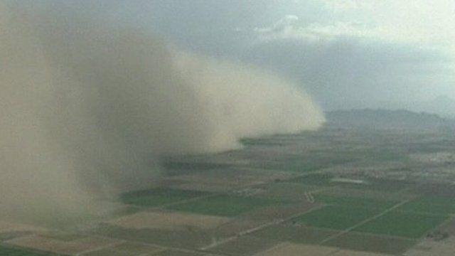 Dust storm in Arizona