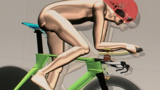 Cyclist on CAD program