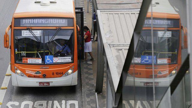 Bus in Sao Paulo